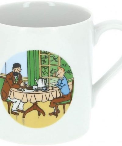 Tintin – Mug tasse Tintin et Haddock à table