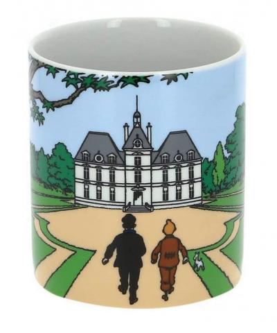 Tintin – Mug tasse Tintin Milou et Haddock marchant vers le château de Moulinsart