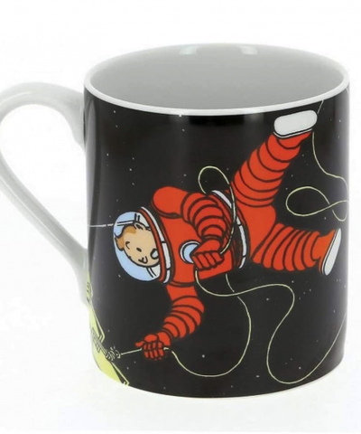 Tintin – Mug tasse Tintin et Haddock en cosmonaute sur la lune