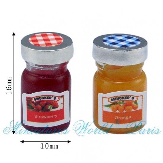 2 Pots de confiture en verre – DM148