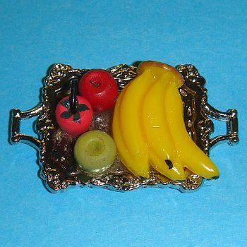 Plateau en métal rempli de fruits – F4681A